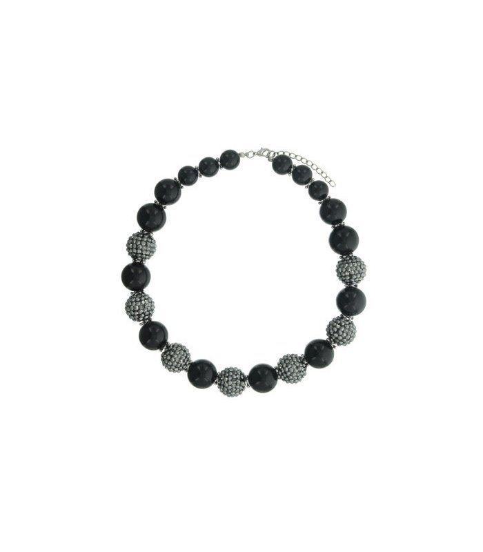Mooie zwart met antraciet grijze kralen halsketting   Mooie halsketting van Versteegh   Lengte van de halsketting is 44 cm.   EAN: 8718189397348   A-zone fashion