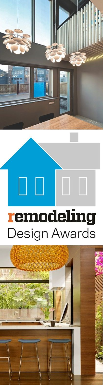 You spend hours designing, choosing finishes, coordinating your team, and working with clients to make every project is perfect. You deserve some recognition for your efforts. The Remodeling Design Awards will help you do just that. There's a category for every remodeler and you can easily enter more than one project. Check out those categories and enter your beautiful remodel by following the link above