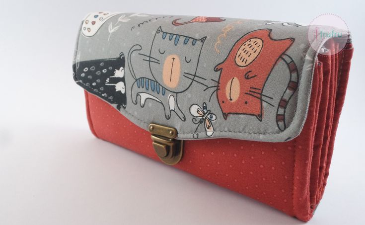 WOMEN'S WALLET, Wallet for woman, Necessary Clutch Wallet, Kitties Wallet, Cat Wallet, Vegan Wallet, wallet woman