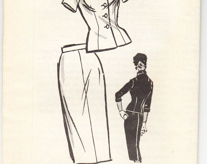 Vintage 1958 Anne Adams 4891 UNCUT Sewing Pattern Misses' Two Piece Dress Size 12 Bust 32