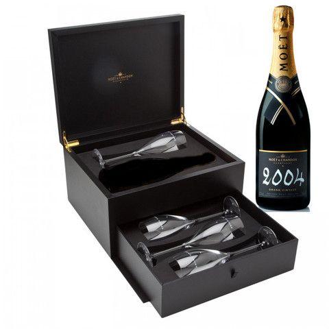 Moet et Chandon Vintage 2004 Champagne Gift Set - 4 x Moet Riedel Cham – Love Champagne