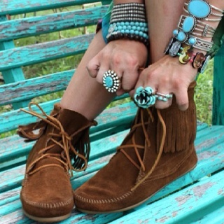 : Shoes, Bracelets, Color, Turquoi Jewelry, Moccasins, Accessories, Boots, Fringe, Native American