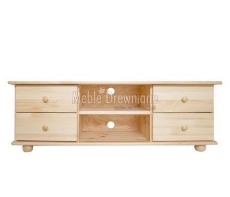 Szafka RTV drewniana sosnowa [61] Meble Drewniane - meble sosnowe producent, łóżka, komody, witryny