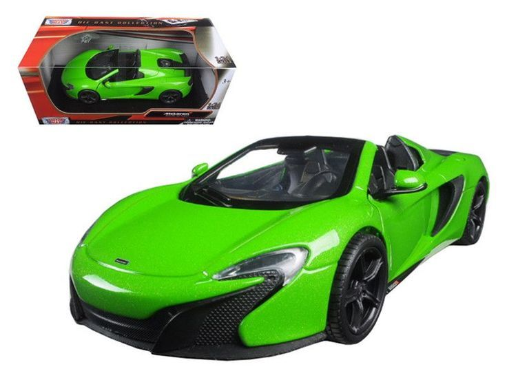 McLaren 650S Spider Green 1/24 Diecast Model Car by Motormax - https://www.luxury.guugles.com/mclaren-650s-spider-green-124-diecast-model-car-by-motormax/
