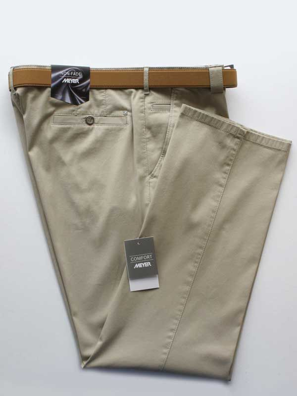 Meyer Trousers Beige Classic Cotton - Roma 350
