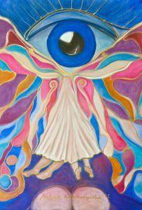 Intuicja  Autor: Malina Kokoszczyńska  Pastele  www.kokkoart.pl http://kokoszczynska.pl/ #art #painting #kokoszczynska