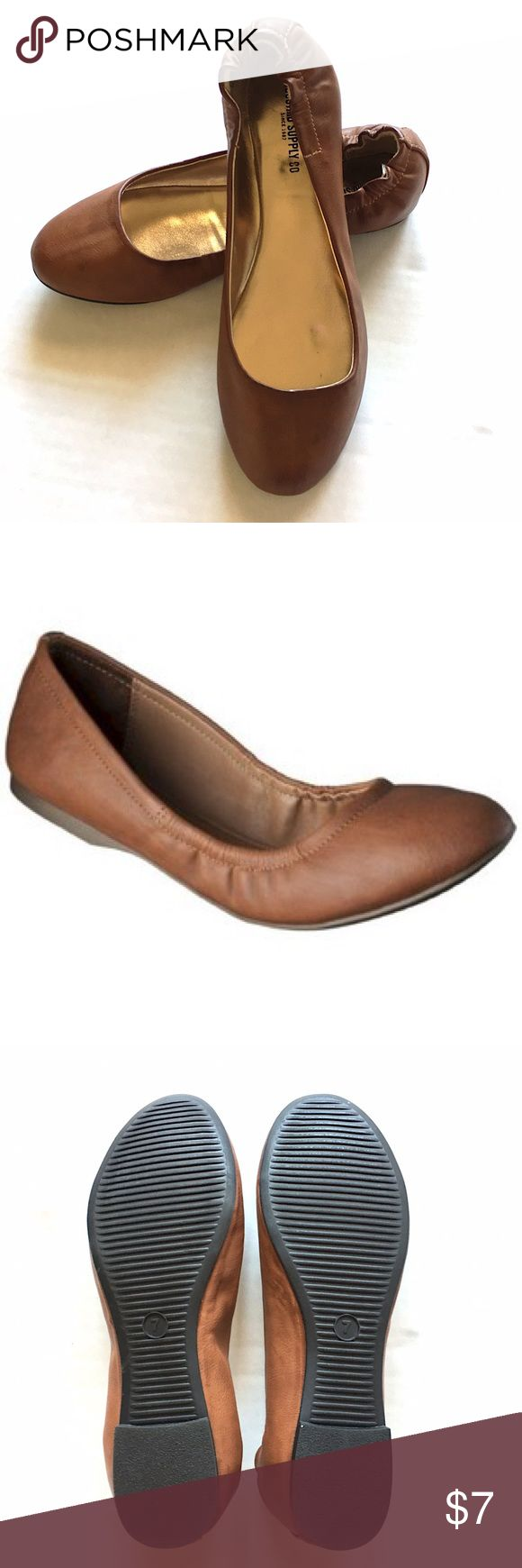 NWOT Mossimo Supply Co. Cognac Brown Ballet Flats NWOT Mossimo Cognac Brown Ballet w/Elastic Back Flats//Size 7//Never Worn👍🏻 + Great Condition! Mossimo Supply Co. Shoes Flats & Loafers