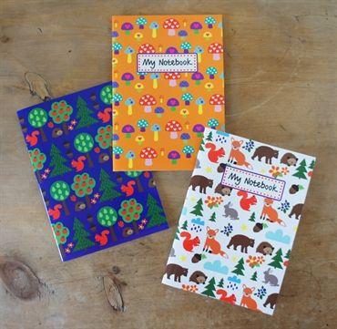 Notebook Set Forest Friends. Design Sara Vestberg