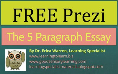 stop teaching the 5 paragraph essay After teaching your students how to use this, they will have the tools to do paragraph writing that includes a topic sentence, three supporting sentences with details, and a closing sentence as well, you can now have the students begin to write a five paragraph essay using this same method.