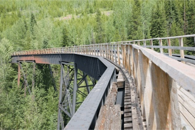 Cycling the Kettle Valley Railroad trail.