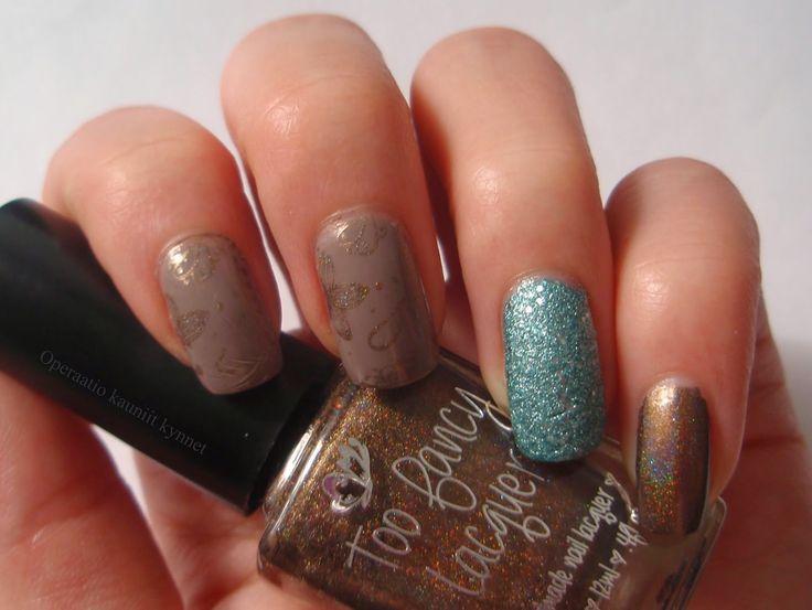 Lumene Kevättalvi / Late Winter, Orly Aqua Pixel, Too Fancy Lacquer Chocolate Gold