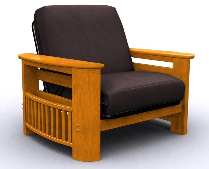 Elite Portofino Oak Round Futon Chair Bed 239 00
