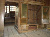 De bedstee waar Peter de Grote in 1697 in heeft geslapen. Tsaar Peterhuisje, Zaandam.