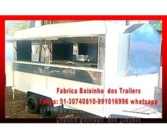 promoção de Trailer lanche carrinhos foodtruck reboques