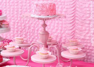 Turn an old chandelier into a multi-stand...and not just for cupcakes!Ideas, Diy Chandeliers, Birthday Parties, 1St Birthday, Chandeliers Cake, Cake Stands, Cake Plates, Cupcakes Stands, Pink Cake