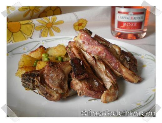 AGNELLO PATATE E PISELLI fragolaelettrica.com Le ricette di Ennio Zaccariello #Ricetta