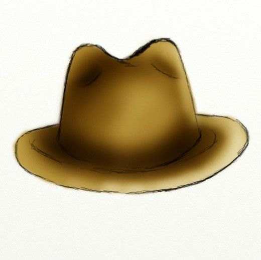 how to draw a hat on a head