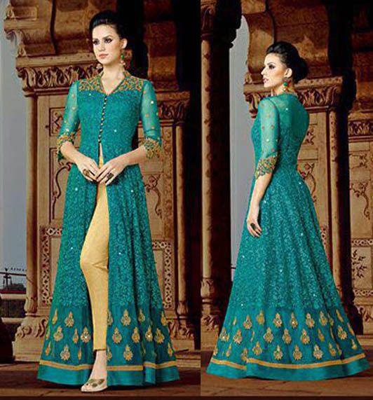 Indian dress anarkali bollywood Pakistani salwar kameez ethnic designer churidar #Indian #SalwarKameez