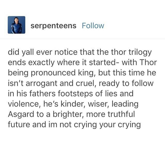 Oh look at that, I'm having feels about Thor again