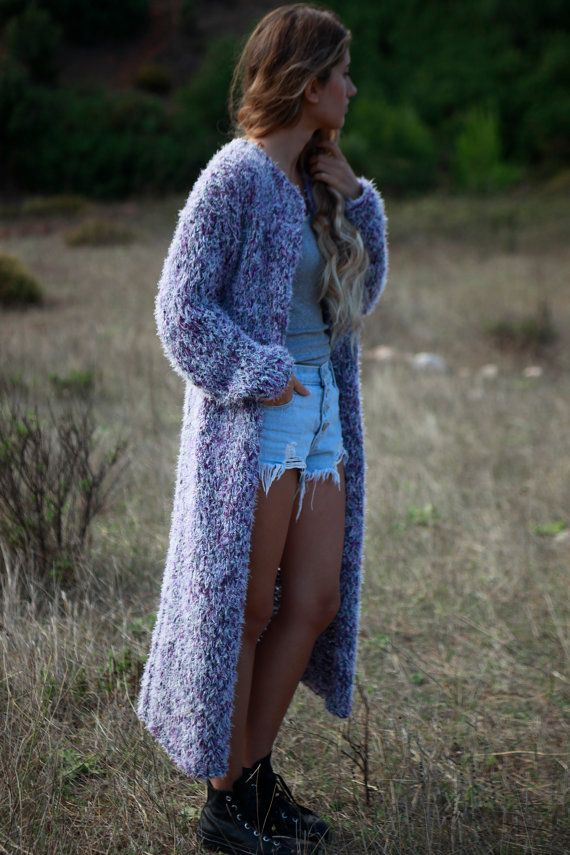 Hey, I found this really awesome Etsy listing at https://www.etsy.com/listing/250915194/boho-long-sweater-coat-lavender-hand