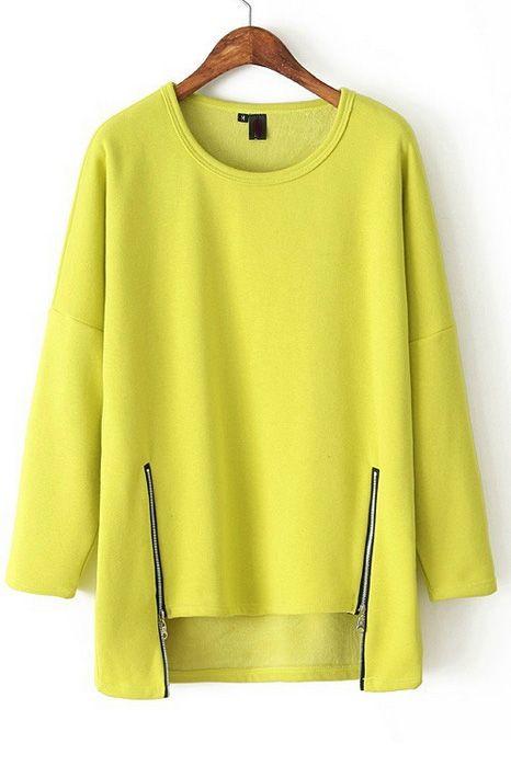 Loose zipper sweater