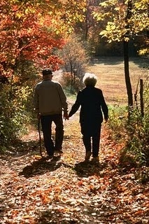 I think it's so sweet to see older couples holding hands.