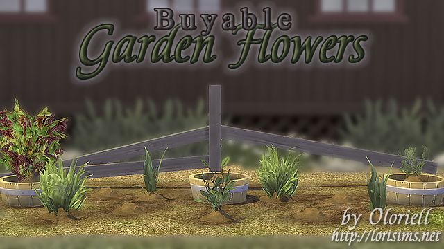 Garden Flowers for The Sims 4 by Oloriell