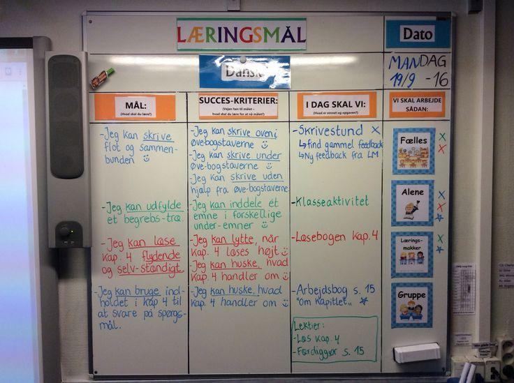Dagens læringsmål i 4 klasse - Dansk i en dobbelt lektion :-)