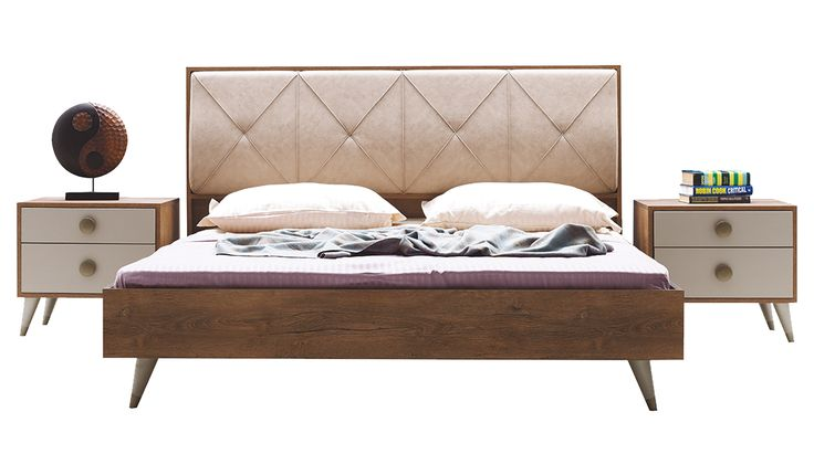 ELENA - Karyola (160x200) Enza Home: yatak fena degil (komodinsiz dusununce)
