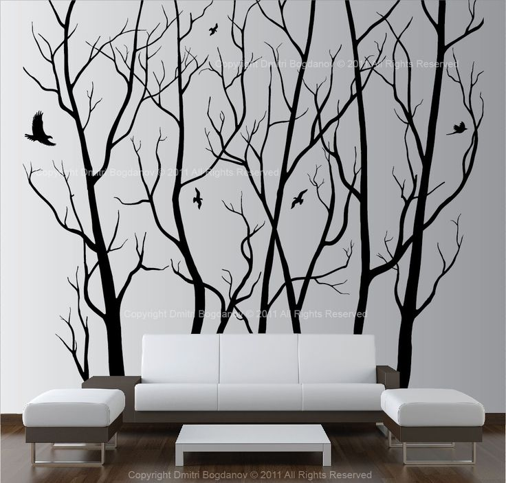 Living room ideasVinyls Trees, Wall Decor, Large Wall Art, Wall Decals, Living Room, Forests Decals, Trees Forests, Wall Art Decor, Decor Vinyls