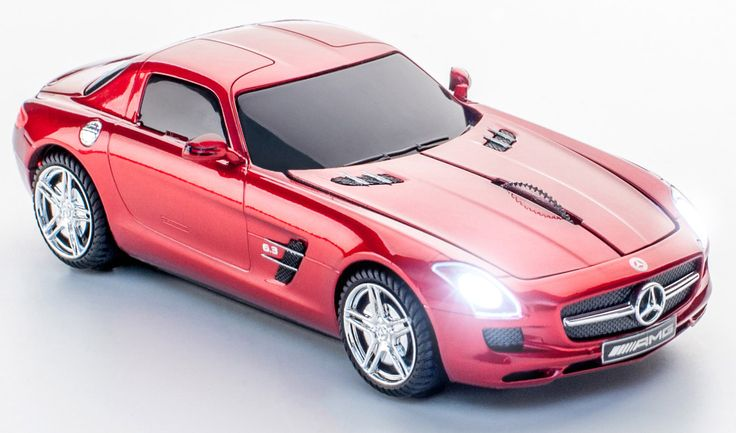 Mercedes Benz SLS/AMG Saphire Red Wireless Mouse