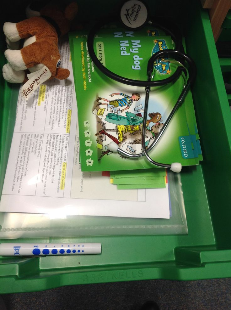 RWI tray contains sets of books, previous planning, linked texts and resources.
