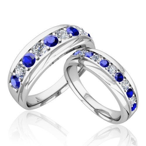 1000 ideas about Sapphire Wedding Bands on Pinterest