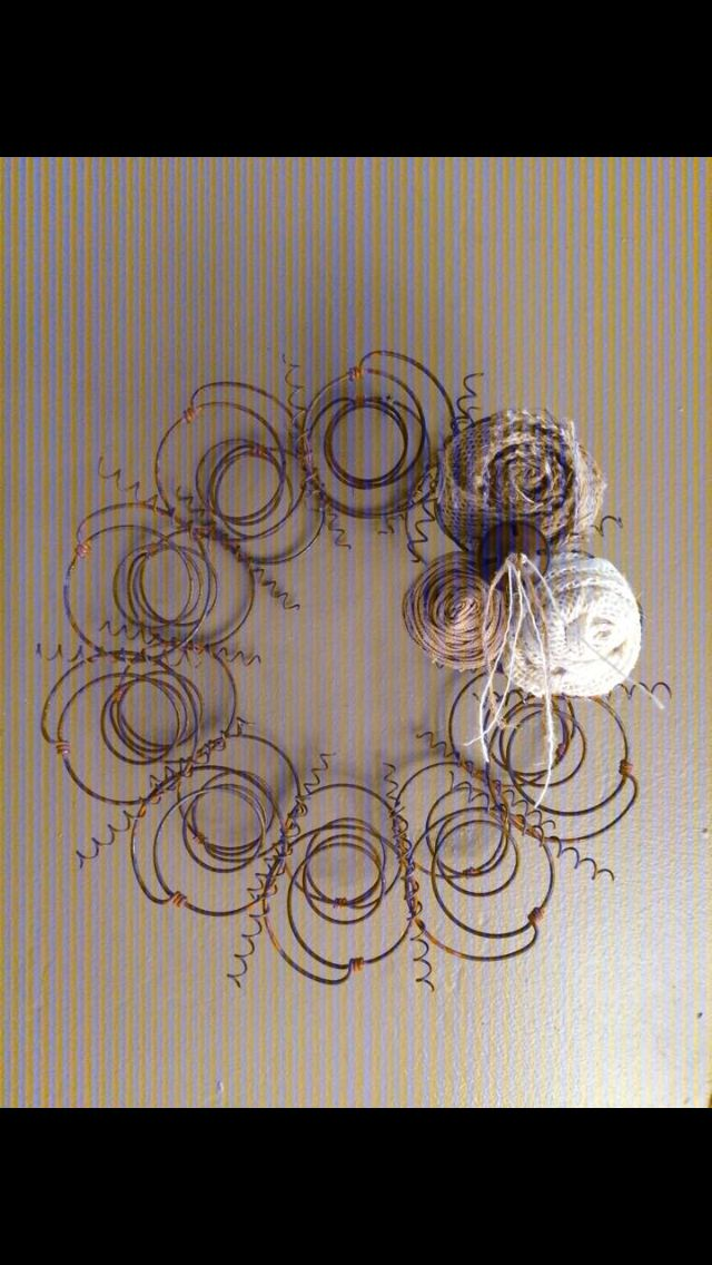Old springs from a mattress turned creative wreath