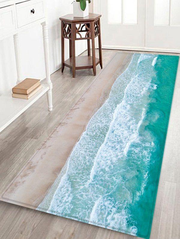 Sea Beach Printed Skidproof Area Mat Cheap Interior Design