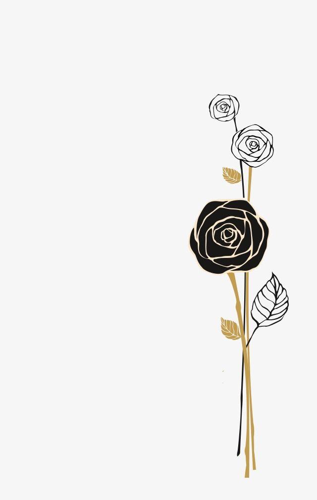 Rose Noire Dessin Fleur Rose Noire Fichier Png Et Psd Pour Le Telechargement Libre Flower Background Wallpaper Black Rose Flower Backgrounds