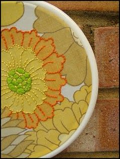 vintage sheet, embroidery hoop, embroidery...love this vintage sheets blog!