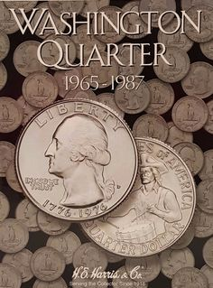 Continue your quarters album collection with the official Washington Quarter 1965-1987 coin collecting album by H.E. Harris & Co. Great for organizing, displaying, and sorting your coin collection.