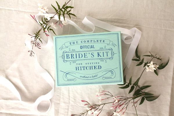 DIY Bride's Kit for Getting Hitched - without a hitch! @Jordan Ferney #wedding #mint #blue