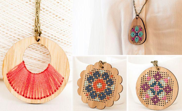 Dare To Wear Red Gate Stitchery's Stitch Wood Jewelry? - StyleFrizz