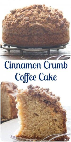 Cinnamon Crumb Coffee Cake, an easy delicious Coffee Cake recipe. A delicious crumb topping using leftover cake. Snack or Dessert. Enjoy.|anitalianinmykitchen.com