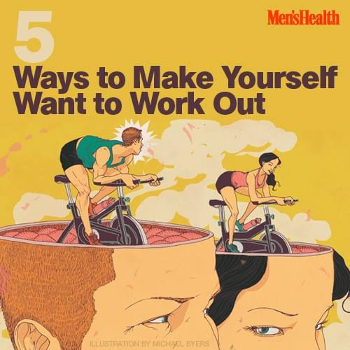 No motivation to exercise? It's all in your head: Your brain is wired to keep your body at rest. Here are 5 ways to rewire it. http://www.menshealth.com/fitness/mind-games-big-gains?cid=soc_pinterest_content-fitness_aug14_makeyourselfwanttoworkout
