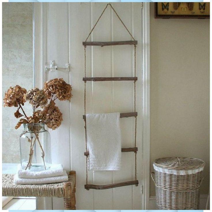 Handtuchhalter aus Holz – 40 DIY Ideen & Designer Model