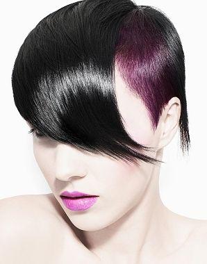 Black & purple short hair