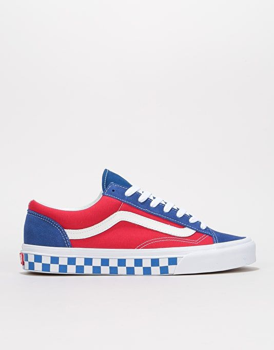9dafebe00be Vans Style 36 Skate Shoes - (BMX Checkerboard) True Blue Red ...
