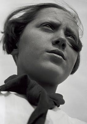 Alexander RodtschenkoPioneer girl, 1930Gelatin-silver print, Vintage print56 x 43,1 cmMoscow House of Photography Museum© Rodchenko's Archive / 2011, ProLitteris, Zürich