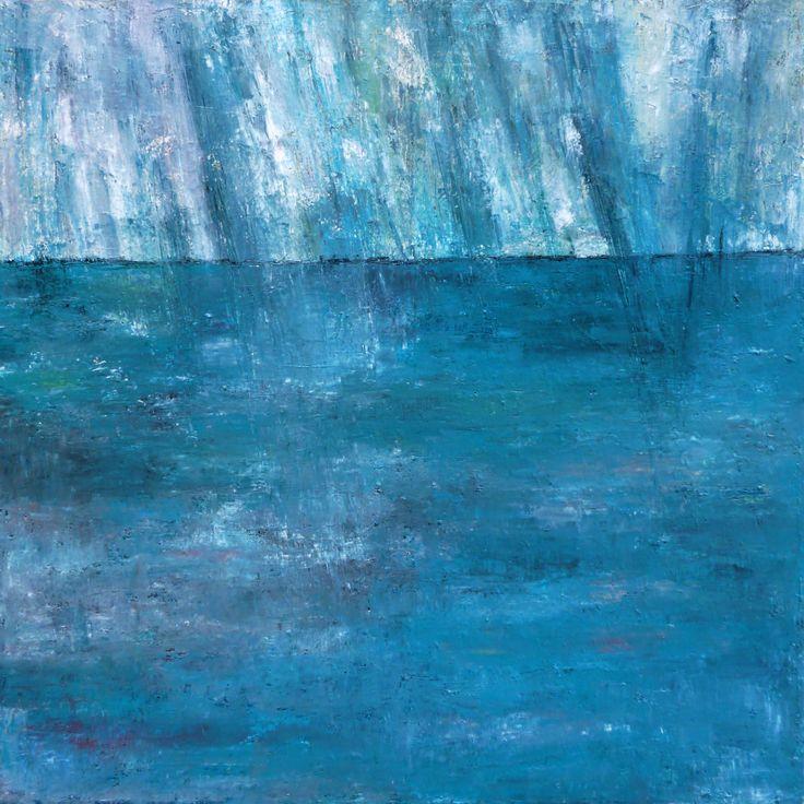 tableau pluie sur la mer par pascale jacquemond collet paysages marines dc10413pl044. Black Bedroom Furniture Sets. Home Design Ideas