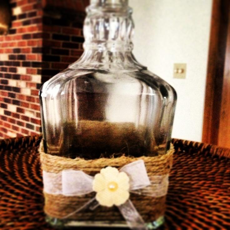 Decorated liquor bottle