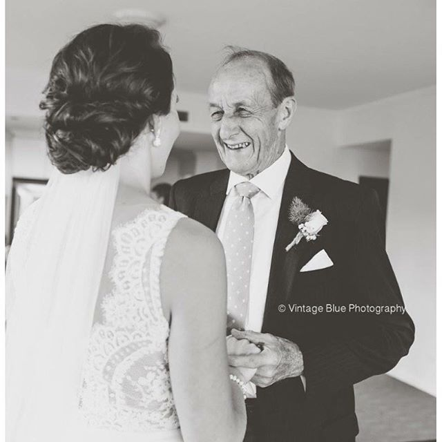 Father and daughter love...upstyle, veil and gown perfection www.maplelane.com.au