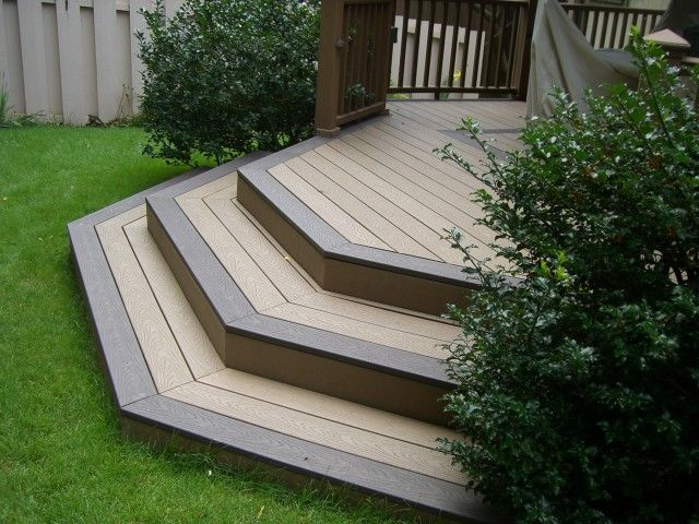Two Tone Cascading Deck Steps Make A Fantastic Design For A Smaller Backyard Project